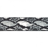 Waistband Elastic, 40mm Snake Print Black