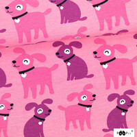 PaaPii Design, GOTS Organic French Terry, Sesse Light Pink Pink Purple