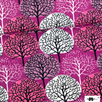 PaaPii Design, GOTS Organic Jersey, Seasons Purple Pink Lilac