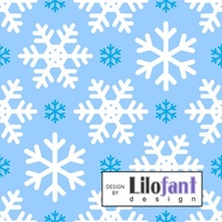 Lilofant, Blue Snowflakes in Organic Jersey