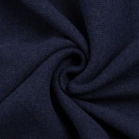 European Knitted Brushed Cotton, Winter Weight, Navy