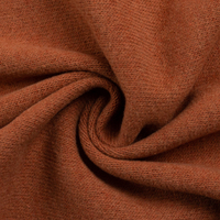 European Knitted Brushed Cotton, Winter Weight, Terracotta Melange