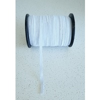 Elastic, Birch Braided 9mm - White