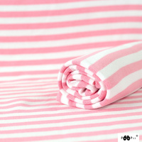 PaaPii, Ribbing GOTS Organic Light Pink/White Striped