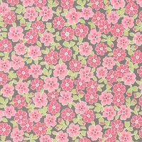 Robert Kaufman, Cozy Cotton Pink Flowers, Flannel