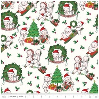 Riley Blake, Kewpie Christmas, Xmas Main Cream