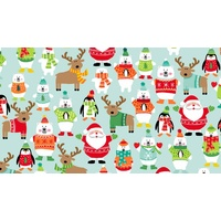 Makower UK, Novelty Xmas, Scatter Turquoise