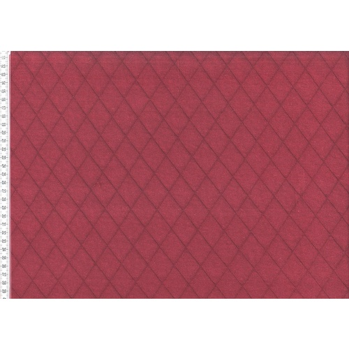 European Knit, Quilted Diamonds, Bordeaux (Double-Sided) 103cm