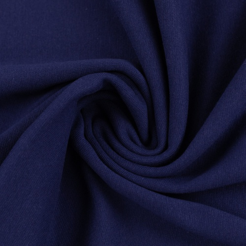 European Cotton Elastane Jersey, Solid, Oeko-Tex, Dark Blue