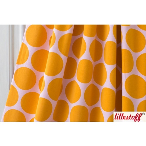 Lillestoff, Organic GOTS Jersey, Giant Points Pink/Yellow