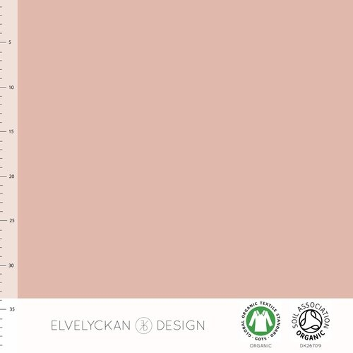 Elvelyckan Design, GOTS Organic Jersey, Solid, Dusty Pink
