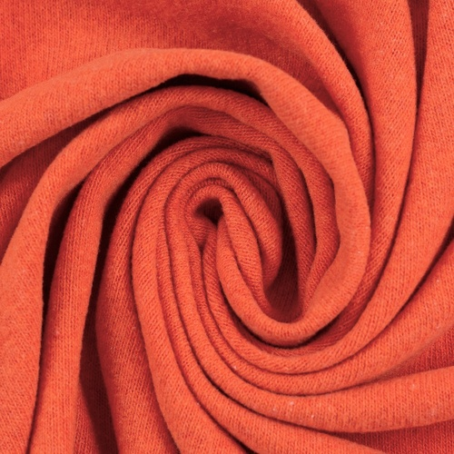 *REMNANT 68cm* European Knitted Brushed Cotton, Terracotta