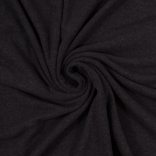 European Knitted Brushed Cotton, Dark Charcoal Grey