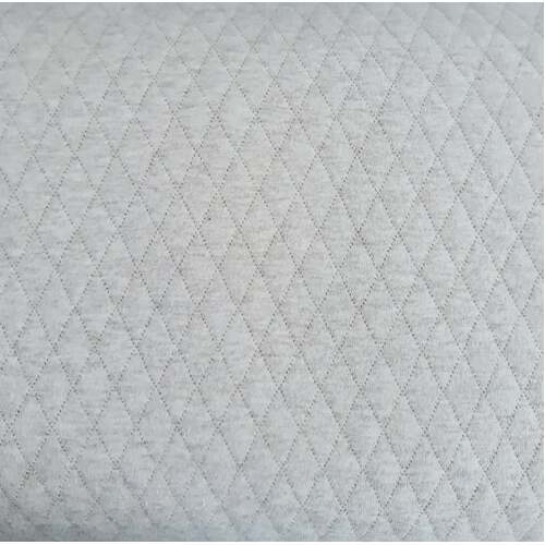 European Quilted Knit, Diamonds, Melange Off White