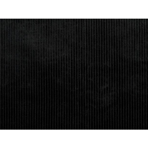 European Wide Corduroy, Plain, Black