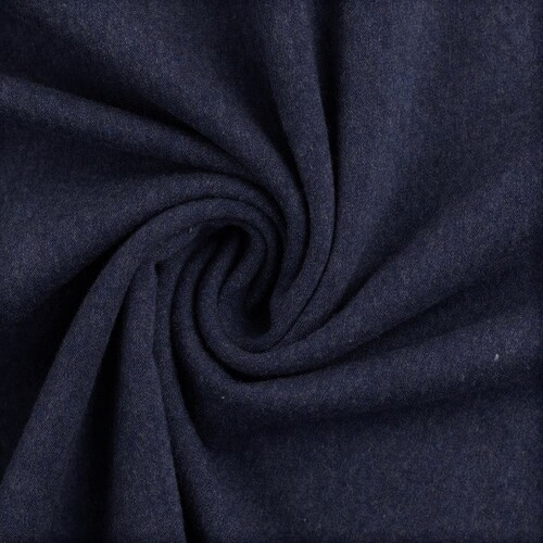 European Knit, Oeko-Tex French Terry, Dark Blue Melange