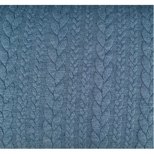 European Cable Knit, Denim Blue